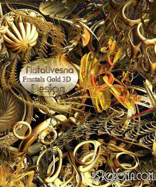 3D  Fractals  gold 3