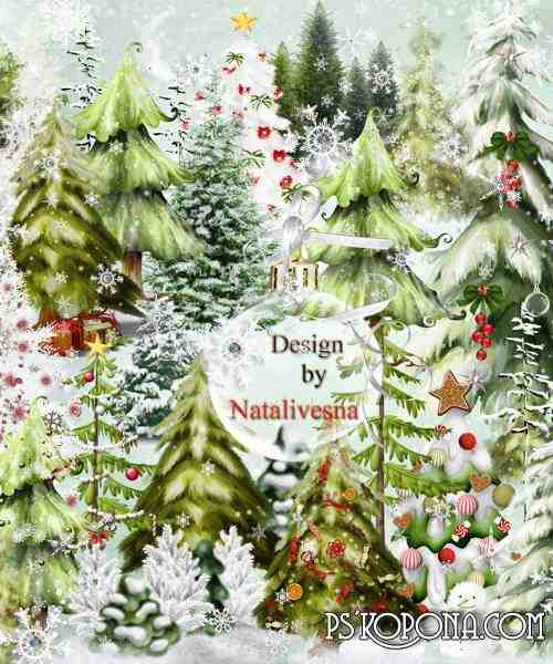 Clipart in PNG - Fir-tree New Year's