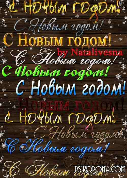 Inscriptions - Happy New Year - 2013
