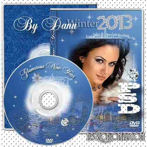 Free DVD cover template-frame and Blowing for DVD - Glamorous New Year