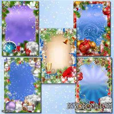 Festive frame for photo - New luxury (free frame psd + free frame png)