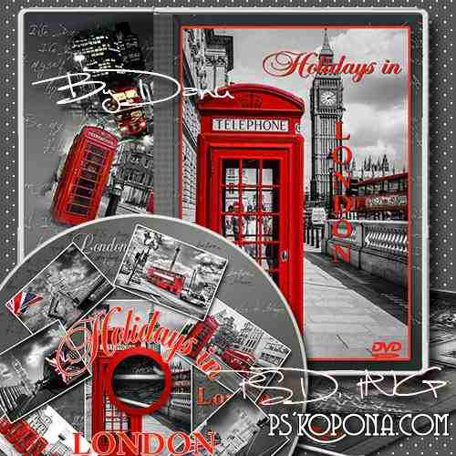 Free DVD cover template and blowing on the disc - The Holidays in London