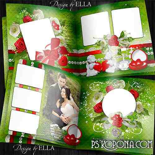 Template romantic wedding photo book template-My Heart