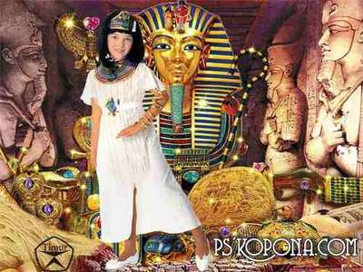 Children's template for Photoshop - Treasures of Egypt