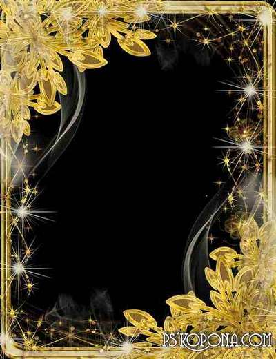 Frame for photo - Gold leaves in a haze