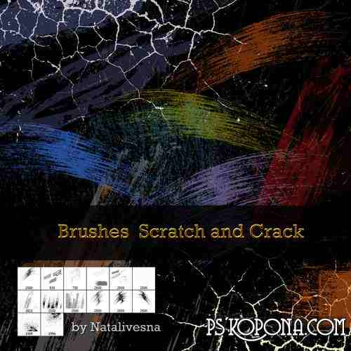 Brushes for Photoshop - Scratch and Crack