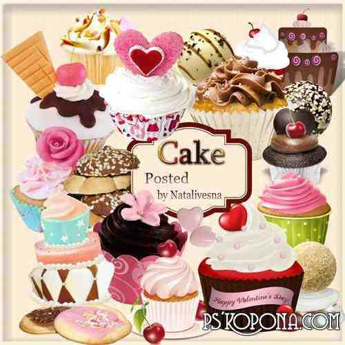Clipart in PNG - Tasty cakes