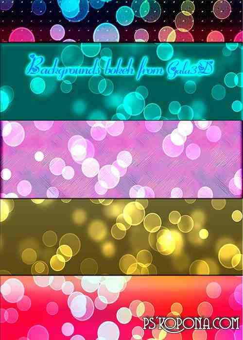 Backgrounds bokeh from Gala3D