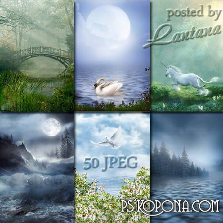 Fantasy backdrops for photo - Early Spring, melt water
