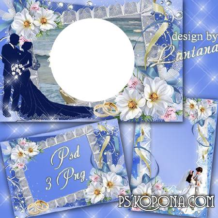 Wedding frame - Were whiter than snow wedding flowers