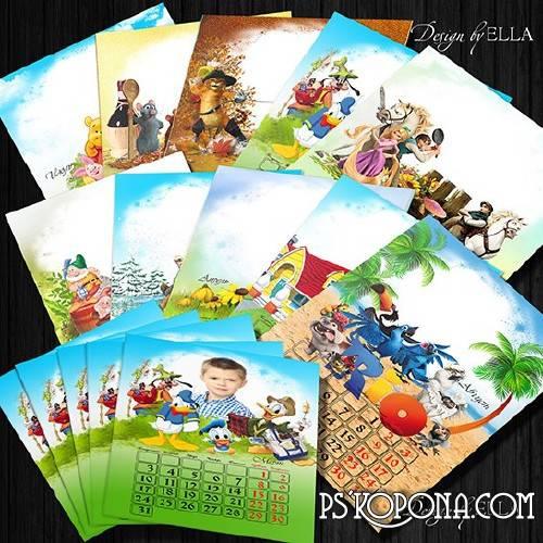 Changeover children's calendar-frame PNG for 2014