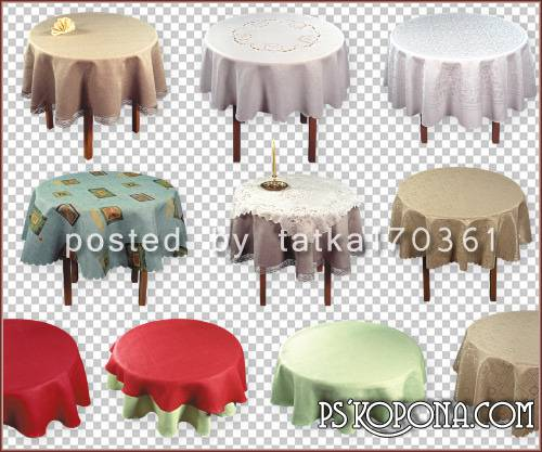 Clipart for Photoshop - Circular tables free download