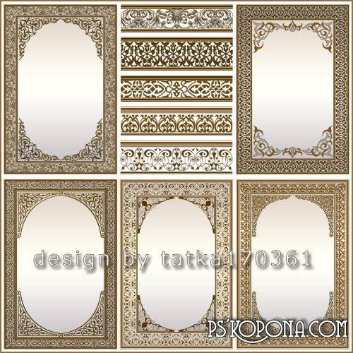 Multilayer patterned gold frame design for women photos