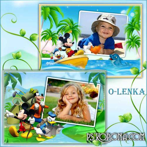 Children's frame - Mickey mouse and his friends