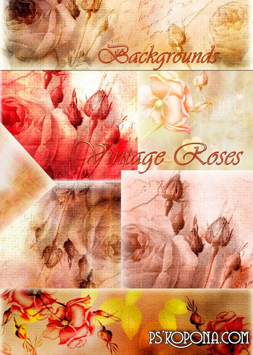 Backgrounds - Vintage Roses