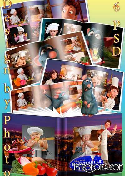 Baby colorful photobook with the heroes of m/f Ratatouille
