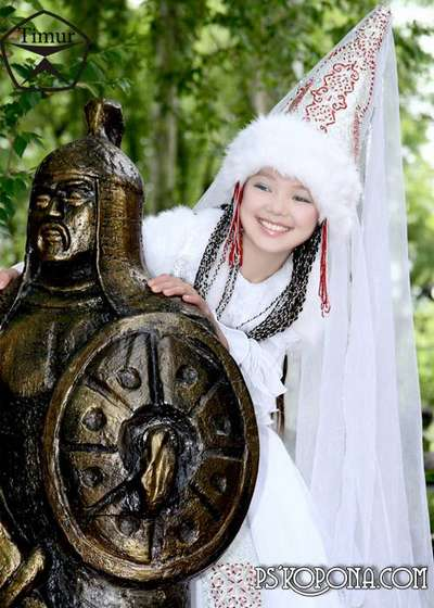 Children's template for Photoshop - Kazakh national costume