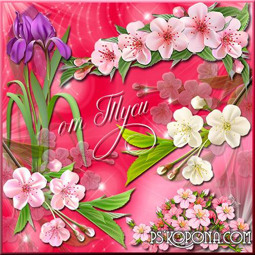 Orchids Clipart -Spring flowers are charming and gentle