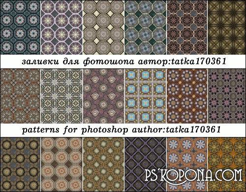Seamless texture for Photoshop - Volume tiles to create backgrounds