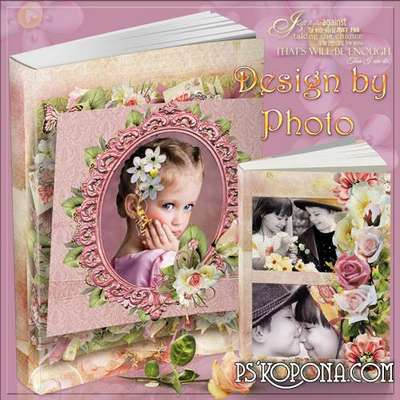 Vintage photobook template psd - Refined style
