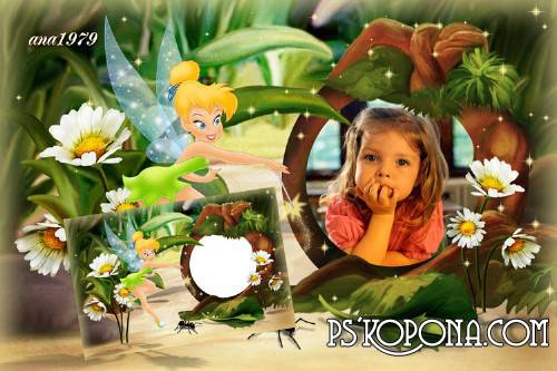 Frame for Photoshop ,free download - Tinker Bell