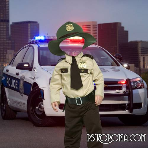 Children's template - the Small police officer