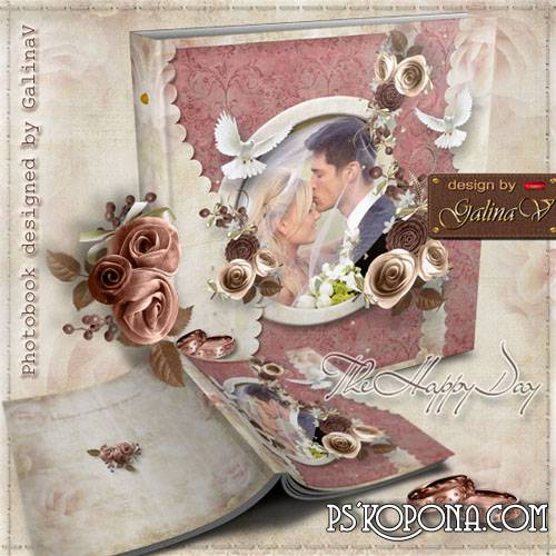 Wedding Photobook template psd - The Happy Day