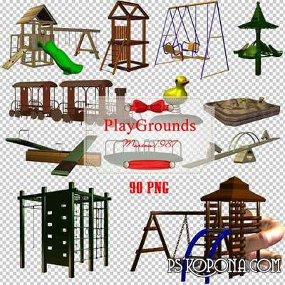 Clipart PNG - playgrounds