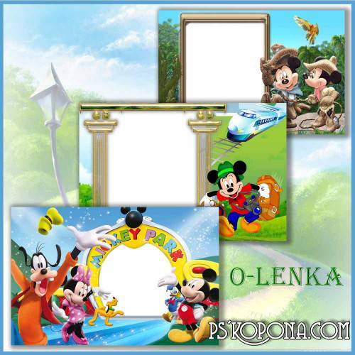 Children's photo frames  - adventures of Mickey mouse