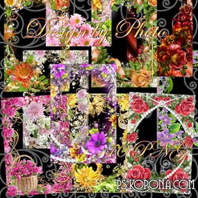 Set the framework for photo - Like flowers