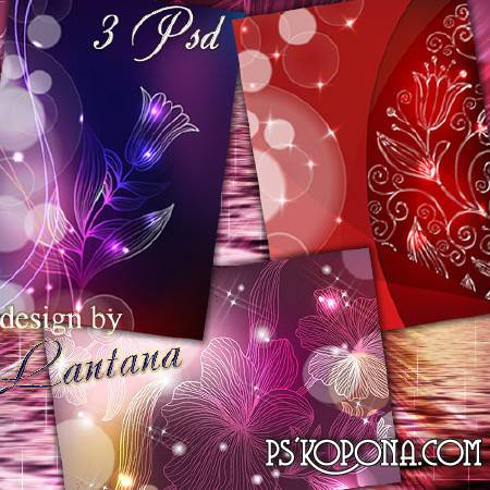 PSD source - Irresistible charm of its transparent flowers June days