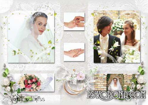 Wedding frame - collage - Moments of Happiness