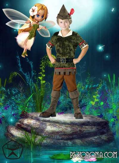 Children's template for Photoshop - Peter Pan
