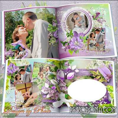 Romantic photobook template psd Unforgettable moments