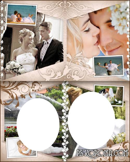 Romantic photo book template psd for Photoshop - Tenderness feelings