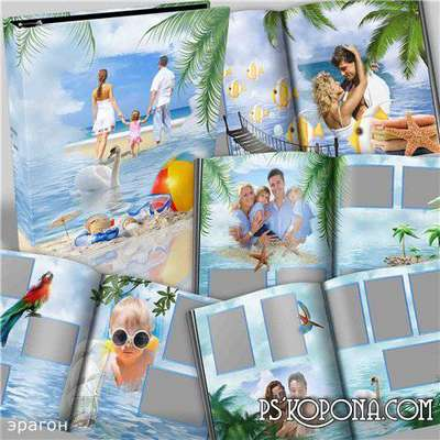Marine photobook for photos - Holidays