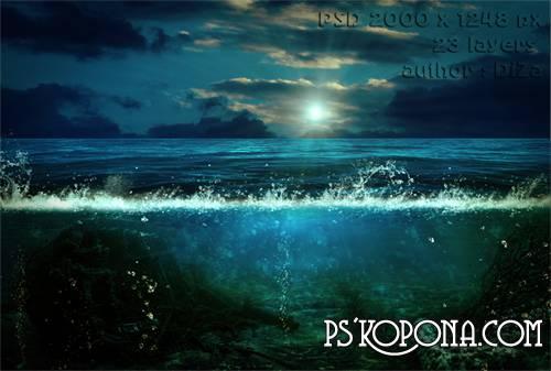 Psd source under water