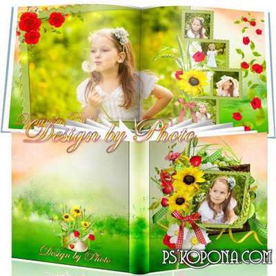 Universal photobook template psd - Bright summer
