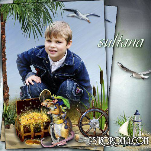Children frame for boys - Treasure Island