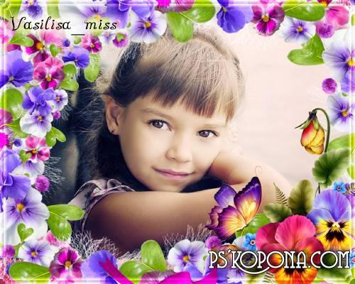 Flower frame - Violet,a beautiful flower