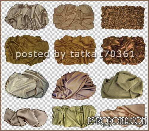 Clipart for Photoshop - Beige fabric shade with large folds