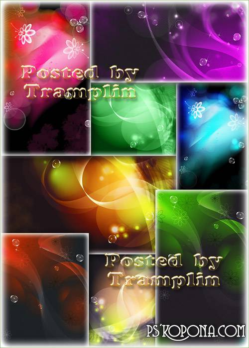 Beautiful multi-colored abstract backgrounds