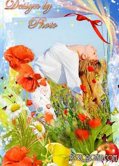 Flower frame - Carrying solar poppies