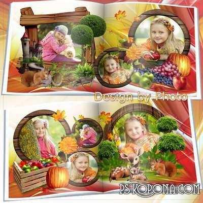 Photobook template psd - Autumn melody