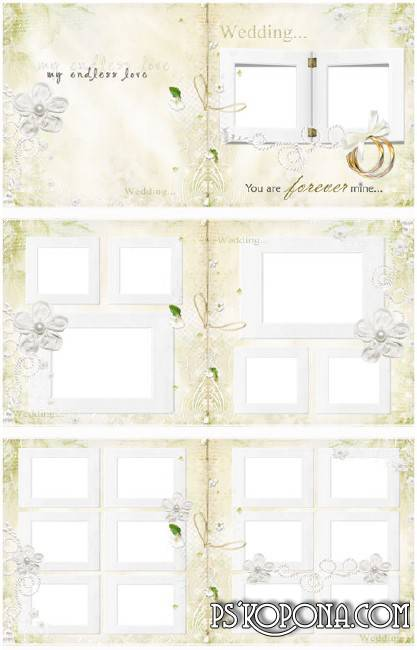 Wedding photobook template psd - Tender Feelings
