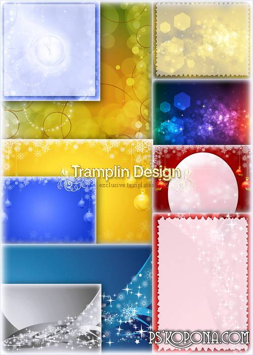 Multi-colored New Year backgrounds of high resolution