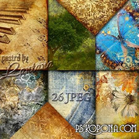 Textures and backgrounds for Photoshop - Vintage and grunge