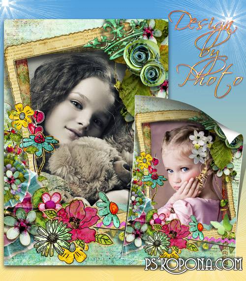 Children scrap frame download - Good mood