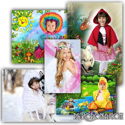 Collection of childrens templates - My little angel