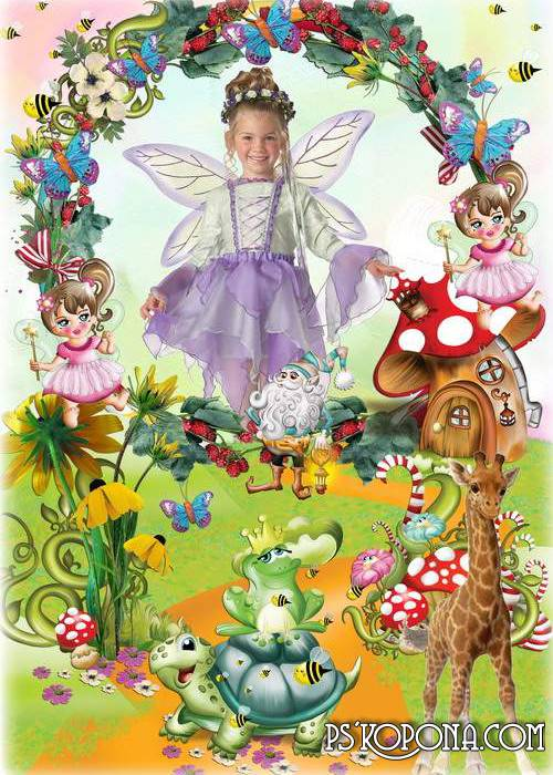 Children frame for photo - Magic fairyland